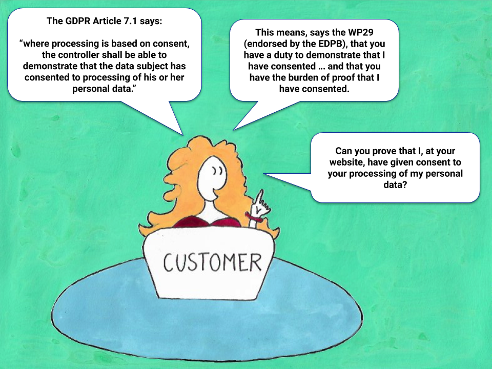 Demonstrating GDPR Consent - an introduction