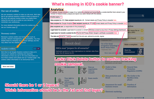 What's (not) missing in ICO's cookie banner?